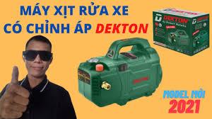 MÁY RỬA XE GIÁ RẺ - Máy Xịt Rửa Xe Có Chỉnh Áp Dekton DK-CWR2950 - 2950W  [Model 2021] - YouTube