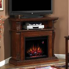 magnificent ideas corner tv stand with fireplace stands