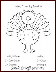 Thanksgiving Craft For Kids Thanksgiving Activities For Kids Free Printable Color By Number