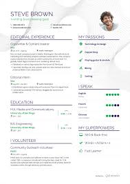 Examples Of Resumes By Enhancv Graphics Pinterest