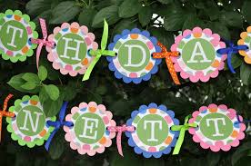 happy birthday pink and green happy birthday banner colorful polkadots blue pink orange and