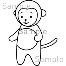 猿の無料イラスト素材登録不要のイラストぱーく