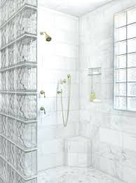 decoration glass block shower partition showers small bathrooms