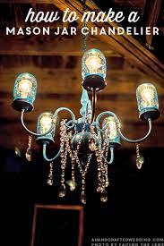 easy how to dy mason jar chandelier free tutorial