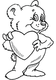 Teddy Bear With Heart Coloring Page Free Printable Coloring Pages