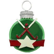 Resin disc field hockey ornament!