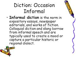 the voice of language text analysis ppt 17 diction occasion informal