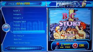 pandora 6 arcade 2000 games games list a b video1