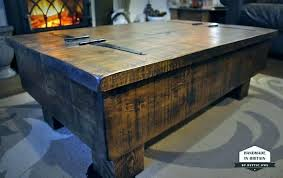 rustic square coffee table large stylish end storage diy
