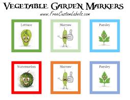 vegetable garden markers