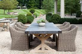 dining table all weather wicker and chairs for stone top outdoor inspirations 0