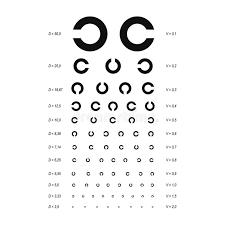 Eye Test Chart Placard Banner Card Set Vector Stock Vector