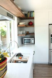 make open shelving work in a corner space