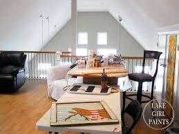 ... gorgeous home art studio interior in loft with veneer workstation also  high black stool ...