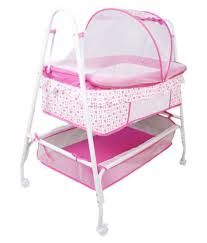 Baby Cradle Designs India Toyhouse Baby Crib With Swing Function Pink Buy Toyhouse