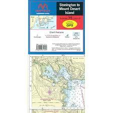 Maptech Waterproof Charts Maine Maptech Folding Waterproof Chart Maine Stonington To Mt Desert Island