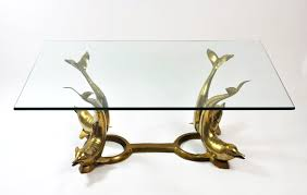 Antique Brass Glass Coffee Table Vintage Brass Dolphin Base Coffee Table Mecox Gardens