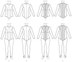 Bodysuit Sewing Pattern Fascinating M48 Women's Zippered Bodysuit By Yaya Han Sewing Patterns