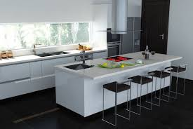 Ceramic Tile Flooring Kitchen White Kitchens With Granite Countertops Mosaic Glass Backsplash