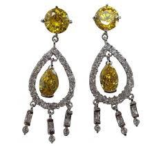one off joblot of 11 phoenix jayy teardrop chandelier silver yellow earrings