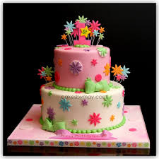 12 Girly First Birthday Cakes Photo 1st Birthday Cake Ideas For