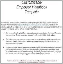 Sample Employee Handbook Uk