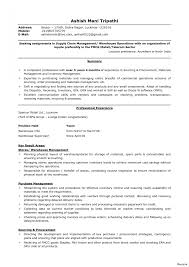 Warehouse Resume Objective Examples Supply Chain Manager Cover Letter Resume Examples Analyst 48