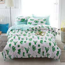 bedding set queen size duvet cover sets twin full size polyeter duvet cover home textile whole cactus green pink teens bedding chenille bedding from