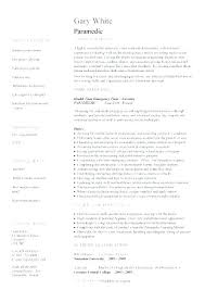 Firefighter Resume Templates Fascinating Resume Emergency Medical Technician Resume Sample Unique Resume
