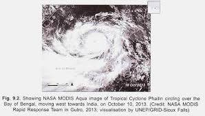 cyclone phailin in essay disasters disaster management nasa modis aqua image of tropical cyclone phailin circling over the bay of bengal