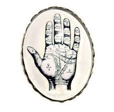Amazon Com Palmistry Palm Reader Brooch Pin Bronze Pltd