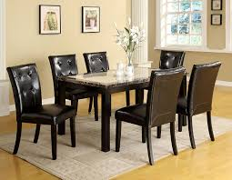 amazon furniture of america taveren faux marble dining table black finish tables