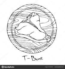 最も人気のある丸い木製のまな板にはt ボーン ステーキ牛肉のカット