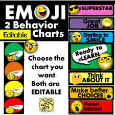 Emoji Behavior Chart Editable Back To School
