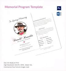 Memorial Pamphlet Template Free Funeral Service Outlines Memorial Pamphlet Template