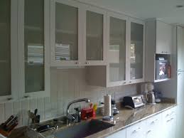 White Glass Kitchen Cabinets Kitchen Room Design Furniture Painting Refinishing Wall Mounted