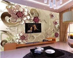 Beibehang Geavanceerde Interieur Decoratie Behang Mooie Glas Bloem