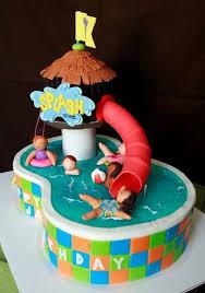 Swimming Party Cake Cakes Cupcake Cakes Cake Swimming Cake