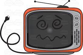 retro tv clip art. a dazed and confused unplugged retro tv set tv clip art