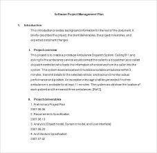 Software Project Management Plan Word Template Free Business ...