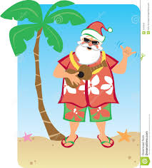 Image result for Santa wearing his Hawaiian shirt