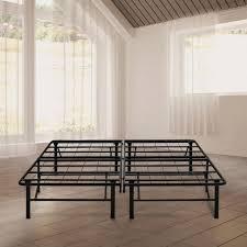 Rest Rite 14 in. Queen Metal Platform Bed Frame-MFP00112BBQN - The ...