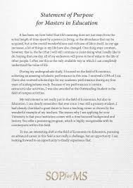 Statement Of Purpose For Ms In Education Sample Essays Album On Imgur