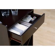 Wine Bar Storage Cabinet Hokku Designs Reagon Bar Cabinet With Wine Storage Reviews Wayfair