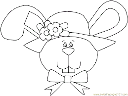 Coloring Pages Easter Bunny Face Animals Easter Bunnies Free