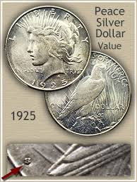 1925 Peace Silver Dollar Value Discover Their Worth