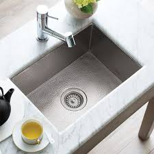 cocina 21 kitchen sink in brushed nickel cpk578
