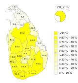 Sri Lanka Religion Pie Chart Religion In Sri Lanka Wikipedia