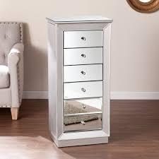 medium premium mirrored surface floor standing jewelry armoire