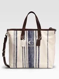 Lyst - Coach Hamptons Vintage-stripe Tote in Natural for Men